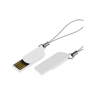 Clé USB mini trombone promotionnelle en amidon de maïs - Blanche - KEYPOP