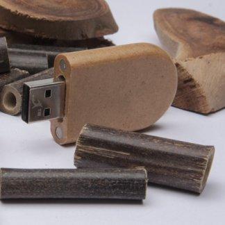 Clé USB personnalisable en papier recyclé - En situation - PAPER RECY