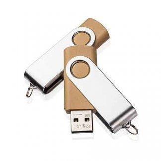Clé USB pivotante publicitaire en plastique recyclé - EXPERT RECYCLING