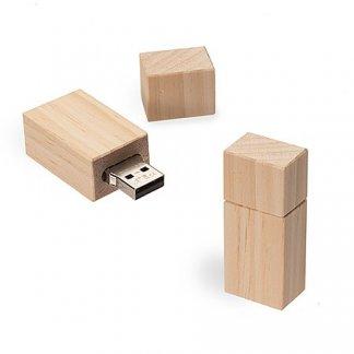 Clé USB promotionnelle en bois certifié - TIMBERJACK