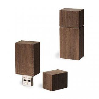 Clé USB promotionnelle en bois de noyer certifié - NOY