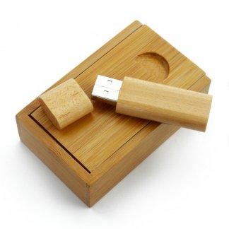 Clé USB publicitaire + boîte en bois ou bambou - GREENTREND