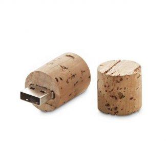 Clé USB publicitaire bouchon en liège - bouchon ouvert - PRESERV