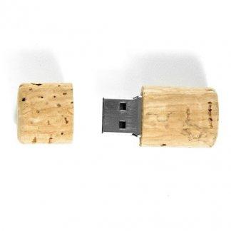 Clé USB publicitaire bouchon en liège - ouverte - PRESERV