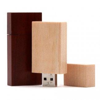 Clé USB publicitaire en bois - BOIS STAR