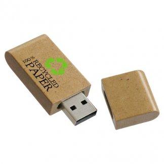 Clé USB publicitaire en papier recyclé - ouverte -  NATURA PAPIER