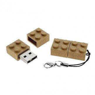 Clé USB publicitaire forme briques en fibres végétales - VGBRICK