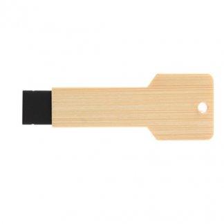 Clé USB publicitaire forme clé en bois ou bambou - EVER