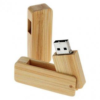 Clé USB publicitaire pivotante en bois ou bambou - PRING