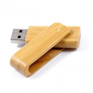 Clé USB publicitaire pivotante en bois ou bambou - TURN