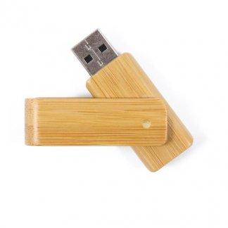 Clé USB publicitaire pivotante en bois ou bambou - a plat - TURN