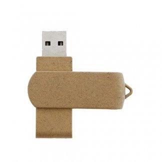Clé USB publicitaire pivotante en fibres végétales - VGFULL