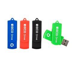 Clé USB publicitaire pivotante en plastique recyclé - ECO