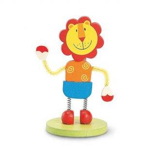 Clip mémo animal publicitaire en bois - Lion