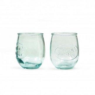Coffret personnalisable 1 bouteille et 2 verres en verre recyclé - 1000ml - 2 verres - COMBIGLOU