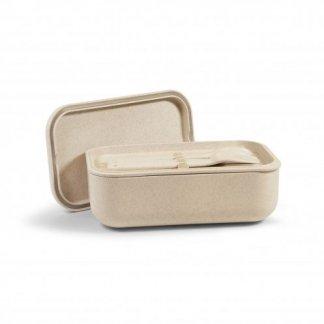 Coffret promotionnel boîtes repas en écorces de riz et polypropylène - couverts - LUNCHSET
