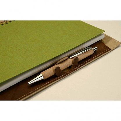 Conférencier A4 Et A5 Publicitaire En Cuir Recyclé Zoom Stylo SCONF