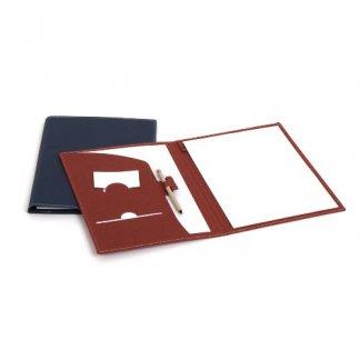 Conférencier A4 publicitaire en carton recyclé - porte stylo et carte - GUIDO