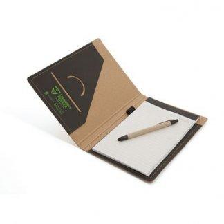 Conférencier A5 personnalisé en carton recyclé - fermeture élastique - Marquage Intérieur - ARCO