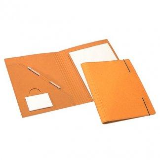 Conférencier publicitaire A4 en carton recyclé - fermeture élastique - FABIAN