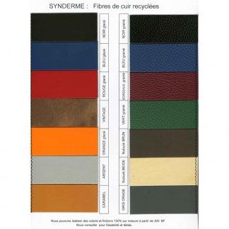 Couleurs cuir recyclé - Porte-étiquette en cuir recyclé pour bagages - TOTAL SYNETIC