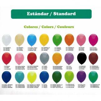 Couleurs standards - Ballon de baudruche biodégradable en latex - GLOBOS