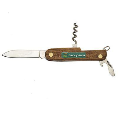 Couteau Pliable Publicitaire 3 Fonctions En Bois Marquage CINTA