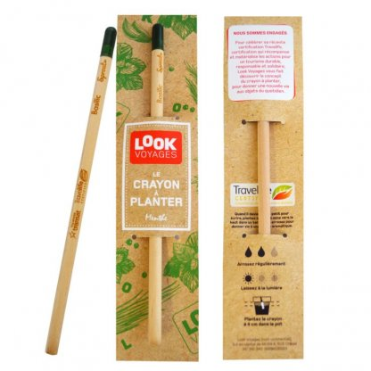 Crayon à Planter Personnalisable En Bois Certifié Look Voyages SPROUT