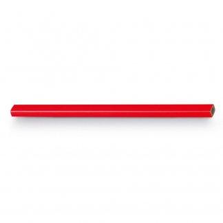 Crayon de charpentier promotionnel en bois - Rouge - GRAFIT