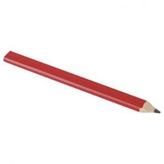 Crayon de charpentier publicitaire en bois - rouge - CETAN