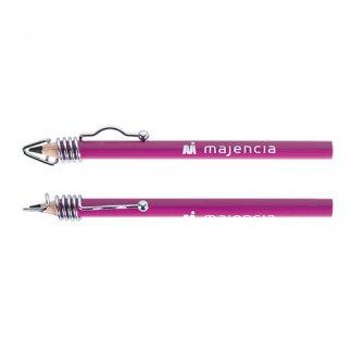 Crayon design publicitaire en bois de Pulay - violet - CLIP-ONE