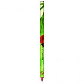 Crayon graphite BiC publicitaire en plastique recyclé - quadri vert - BIC EVOLUTION
