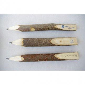 Crayon graphite publicitaire en bois brut - grand - CRABRUT