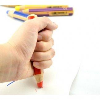 Crayon multi-usage personnalisable en bois certifié - Dans main - STABILO WOODY