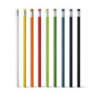 Crayon publicitaire avec tête gomme en bois - ATENEO