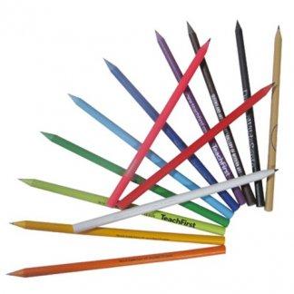 Crayons graphites publicitaires en boitiers CD recyclés - multicolor - CDCASE