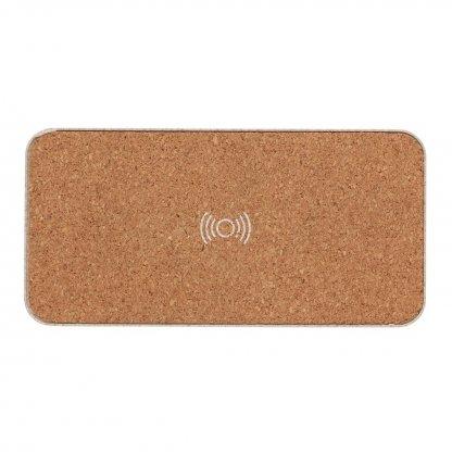 Enceinte Bluetooth Avec Chargeur Induction Personnalisé En Paille De Blé Dessus BADGEROD