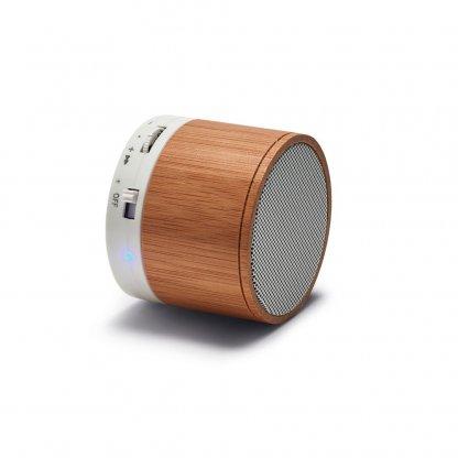 Enceinte Bluetooth Personnalisable En Bambou Couchée GLASHOW