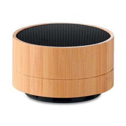 Enceinte Bluetooth Personnalisable En Bambou Noir LIGHTSONG