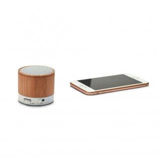 Enceinte bluetooth personnalisée en bambou - Avec smartphone - GLASHOW