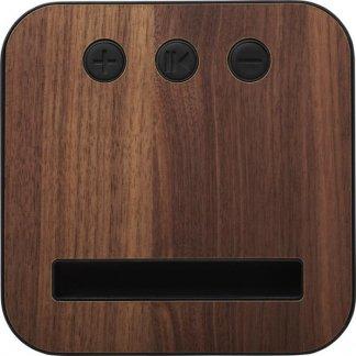 Enceinte bluetooth personnalisée en bois et tissu - arrière - BOITISSU