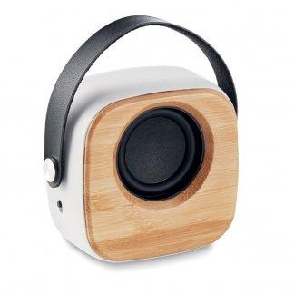 Enceinte bluetooth promotionnelle en bambou - OHIO SOUND