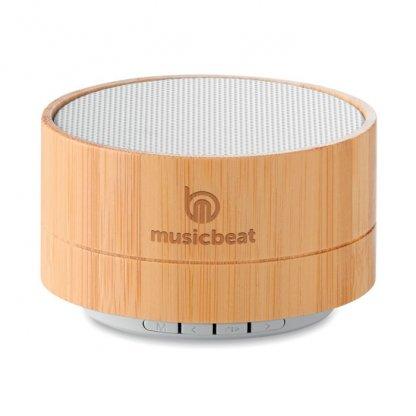 Enceinte Bluetooth Promotionnelle En Bambou Logo LIGHTSONG