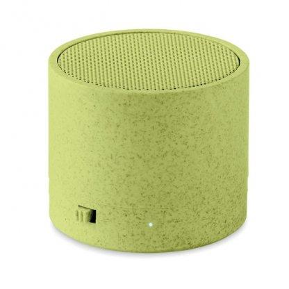 Enceinte Bluetooth Promotionnelle En Fibres De Blé Et Polypropylène Verte BIOSONG