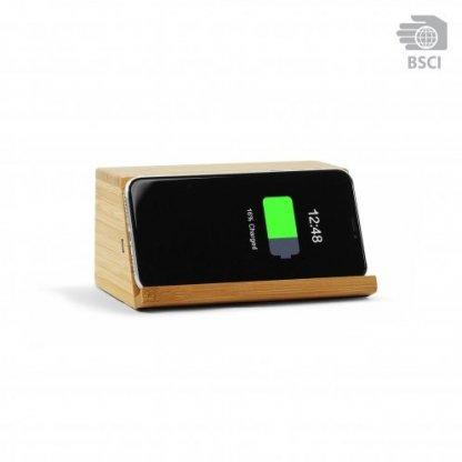Enceinte Bluetooth Publicitaire Avec Chargeur Téléphone Induction En Bois WOODSONG