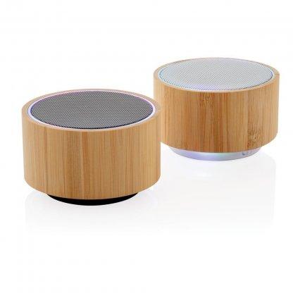Enceinte Bluetooth Publicitaire En Bambou 3W 2 Couleurs ROUND SOUND