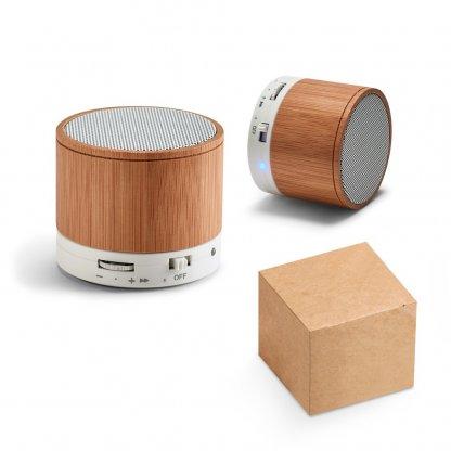Enceinte Bluetooth Publicitaire En Bambou Set GLASHOW
