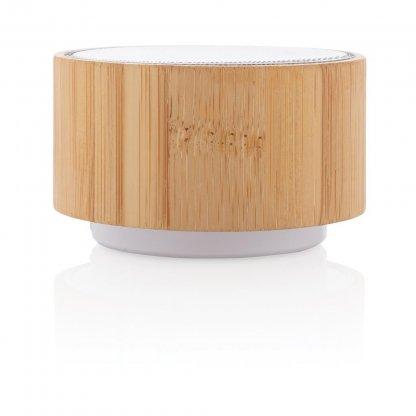 Enceinte Promotionnelle Bluetooth Ronde En Bambou 3W ROUND SOUND
