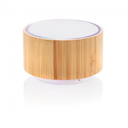 Enceinte Publicitaire Bluetooth En Bambou 3W ROUND SOUND