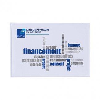 Etui 1 carte de crédit publicitaire en PVC - Marquage 4 couleurs